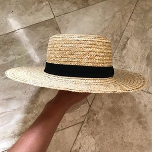 ASOS Accessories - Asos straw boater hat similar lack of colors black